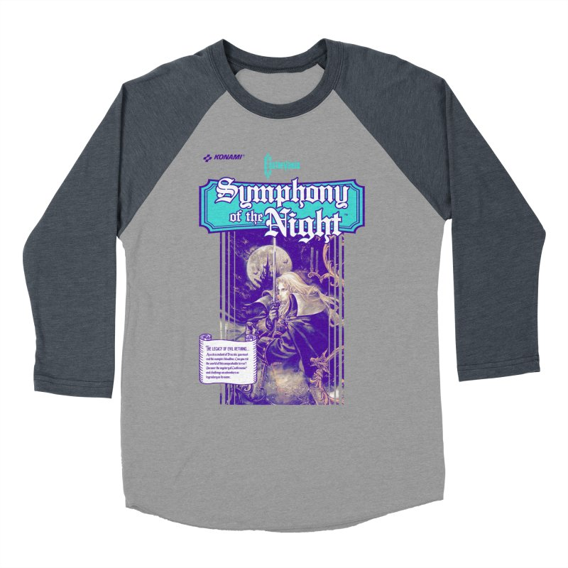 Castlevania: Symphony of the Night Men's Baseball Triblend Longsleeve T-Shirt by tulleceria
