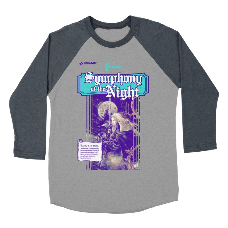 Castlevania: Symphony of the Night Women's Baseball Triblend Longsleeve T-Shirt by tulleceria