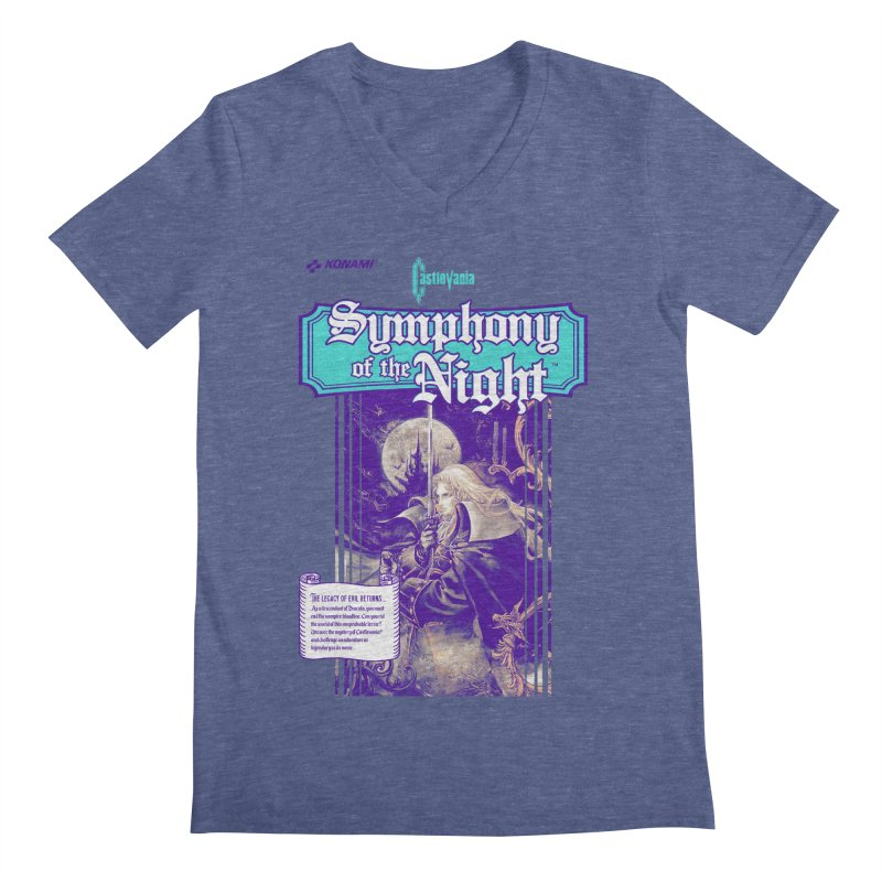 Castlevania: Symphony of the Night Men's Regular V-Neck by tulleceria