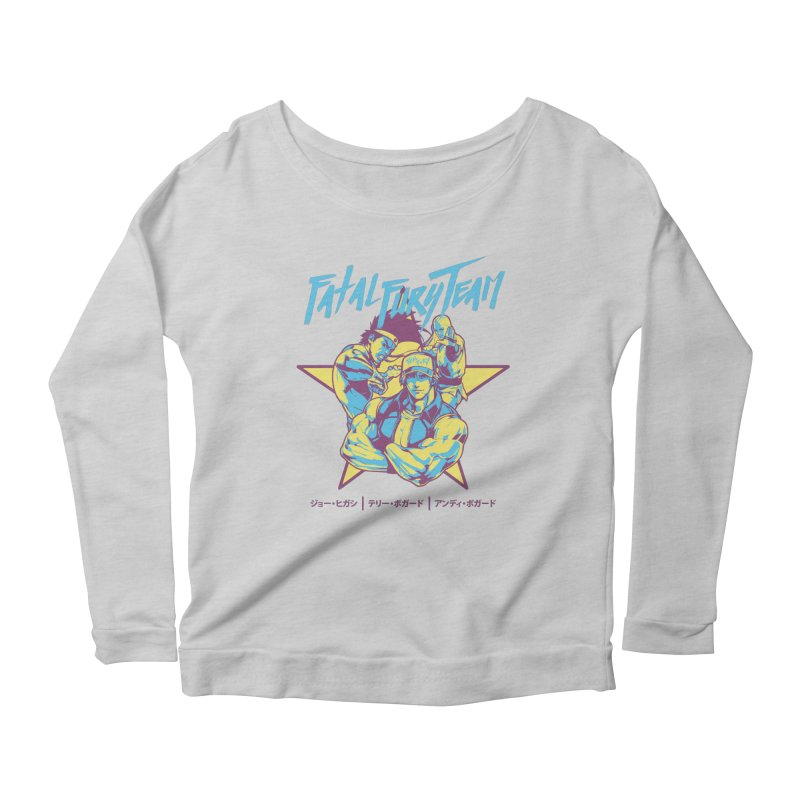 King Of Fighters '94 Italy Team Women's Scoop Neck Longsleeve T-Shirt by tulleceria