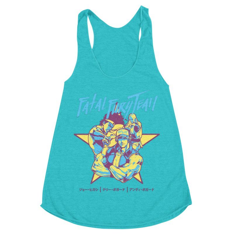 King Of Fighters '94 Italy Team Women's Racerback Triblend Tank by tulleceria