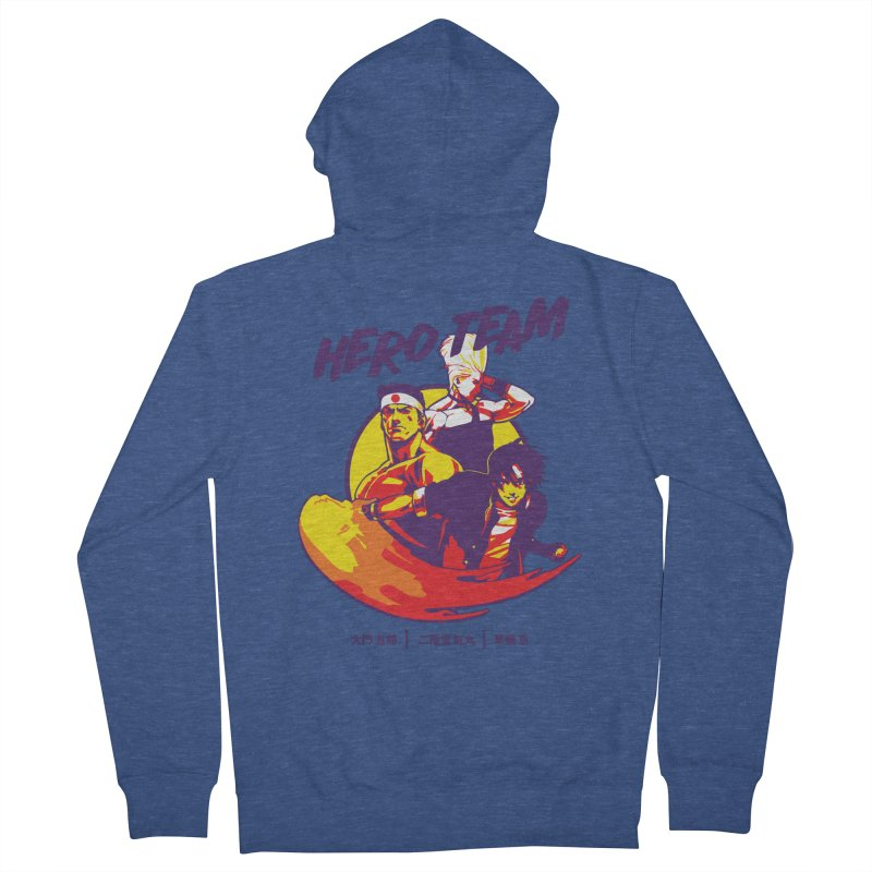 King Of Fighters '94 Japan Team Men's French Terry Zip-Up Hoody by tulleceria