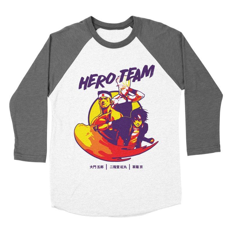 King Of Fighters '94 Japan Team Men's Baseball Triblend Longsleeve T-Shirt by tulleceria