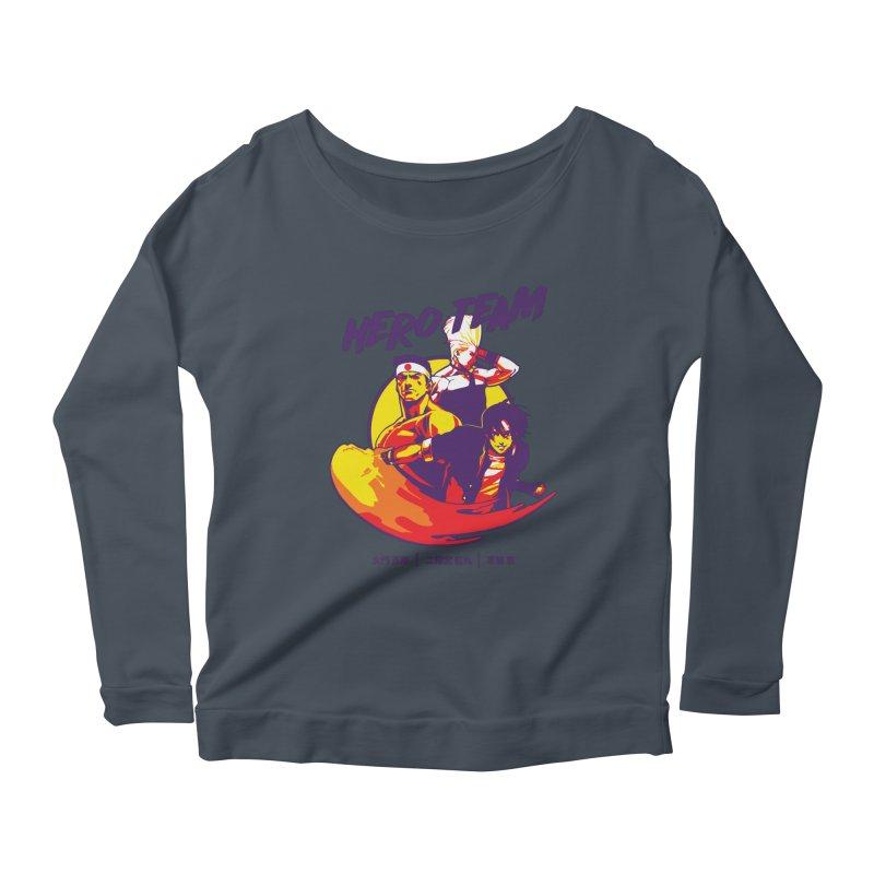 King Of Fighters '94 Japan Team Women's Scoop Neck Longsleeve T-Shirt by tulleceria