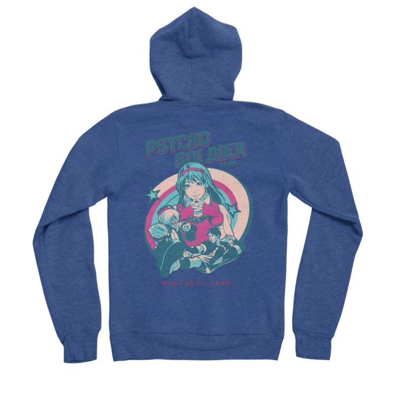 King Of Fighters '94 China Team Women's Sponge Fleece Zip-Up Hoody by tulleceria
