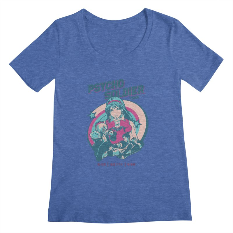 King Of Fighters '94 China Team Women's Regular Scoop Neck by tulleceria