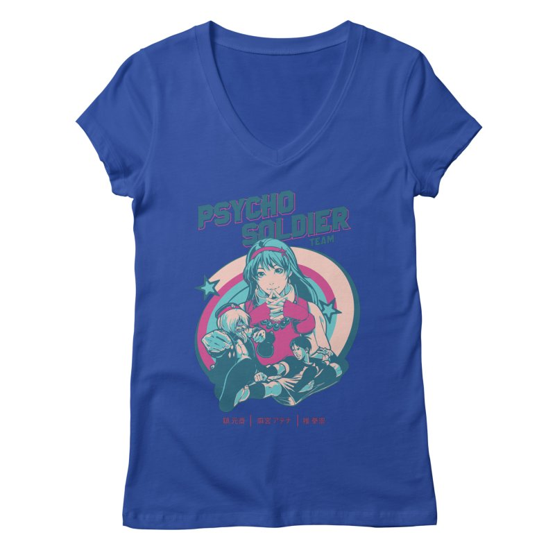 King Of Fighters '94 China Team Women's Regular V-Neck by tulleceria