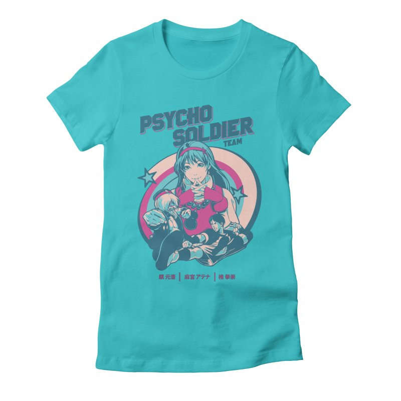 King Of Fighters '94 China Team Women's Fitted T-Shirt by tulleceria