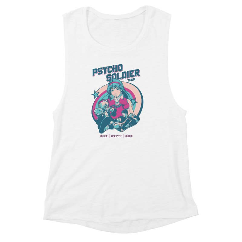 King Of Fighters '94 China Team Women's Muscle Tank by tulleceria