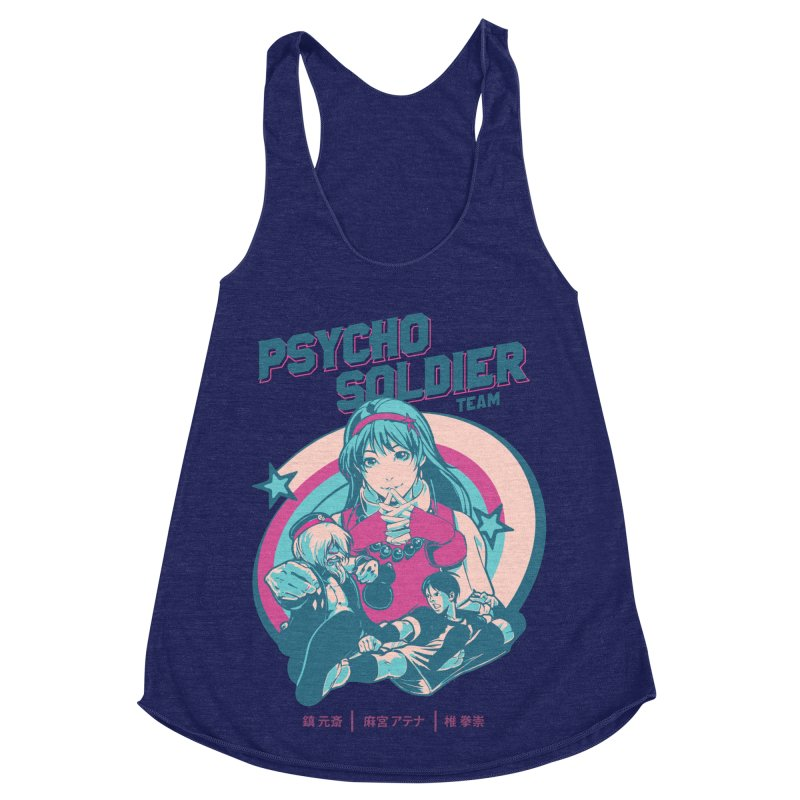 King Of Fighters '94 China Team Women's Racerback Triblend Tank by tulleceria