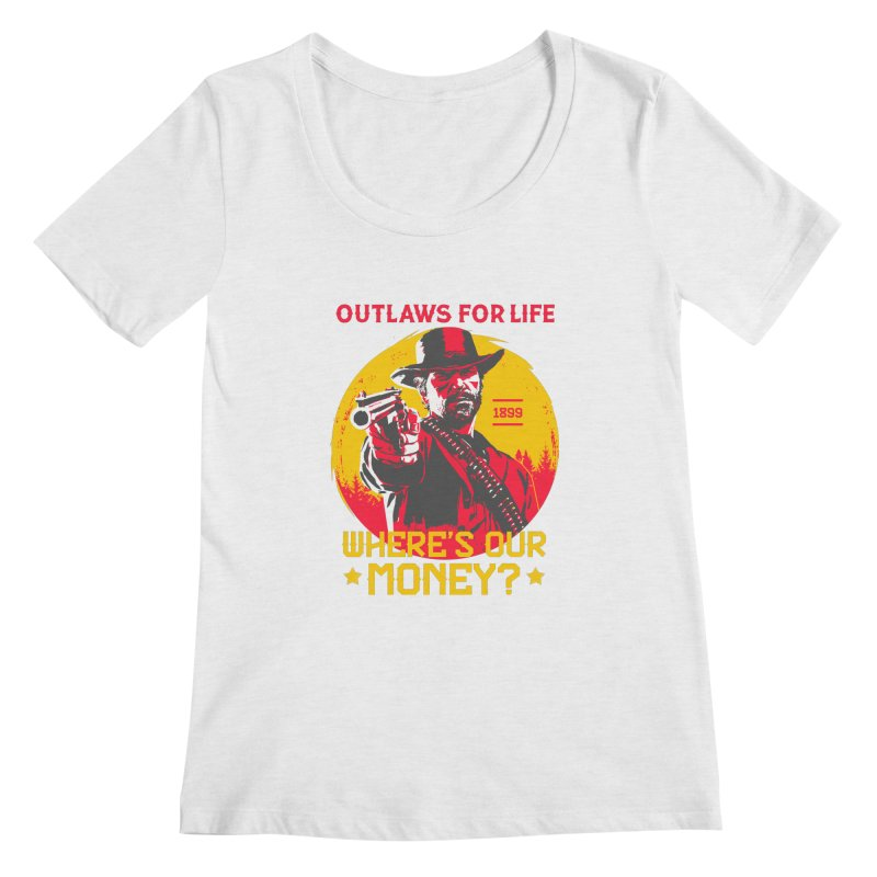 Red Dead Redemption II Women's Regular Scoop Neck by tulleceria