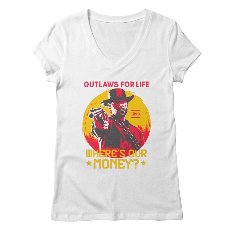 Red Dead Redemption II Women's Regular V-Neck by tulleceria