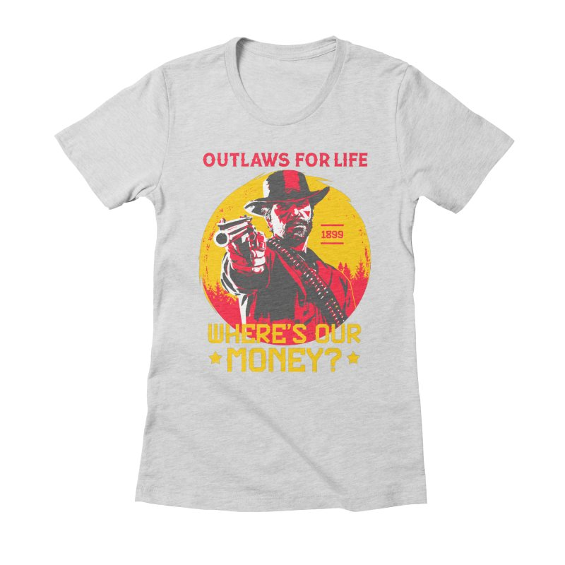Red Dead Redemption II Women's Fitted T-Shirt by tulleceria