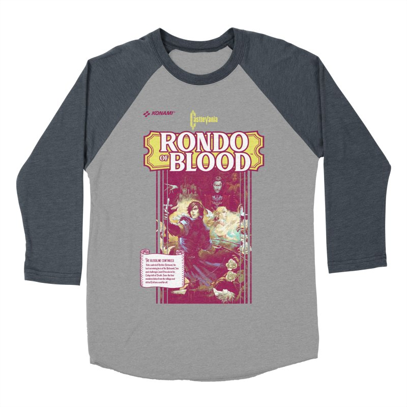Castlevania: Rondo of Blood Women's Baseball Triblend Longsleeve T-Shirt by tulleceria