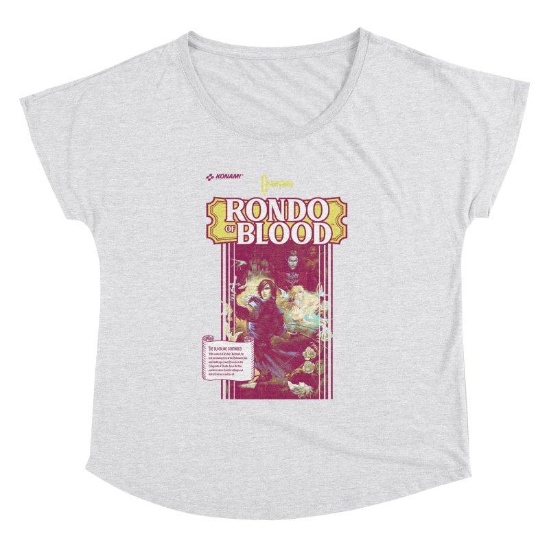 Castlevania: Rondo of Blood Women's Dolman Scoop Neck by tulleceria
