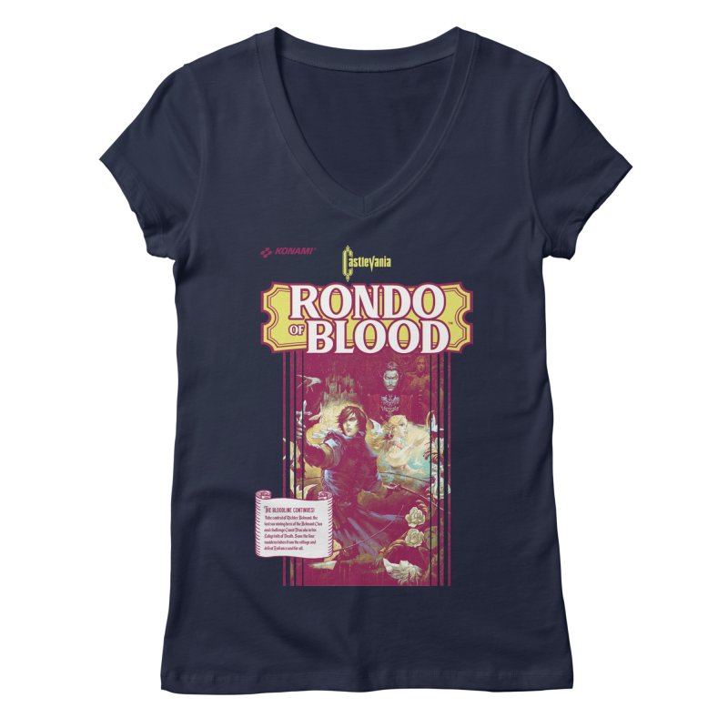 Castlevania: Rondo of Blood Women's Regular V-Neck by tulleceria