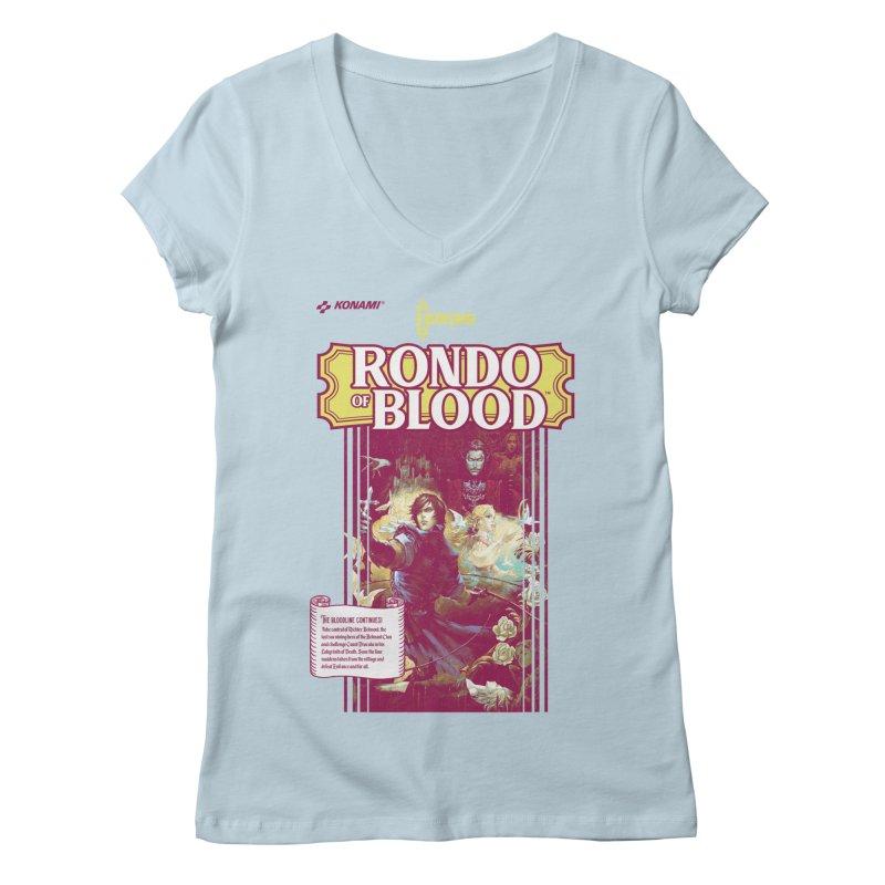 Castlevania: Rondo of Blood Women's V-Neck by tulleceria