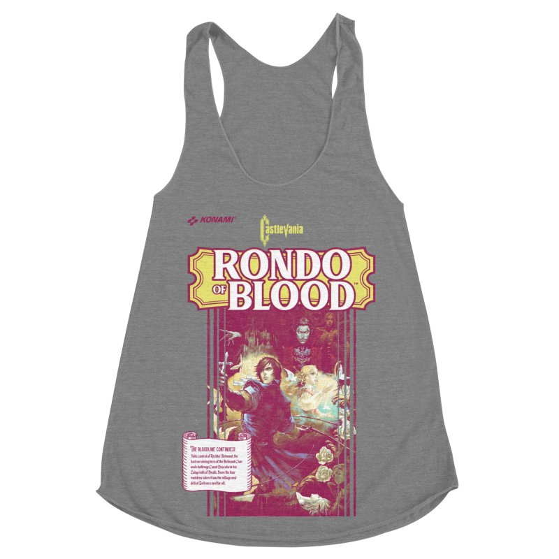 Castlevania: Rondo of Blood Women's Racerback Triblend Tank by tulleceria