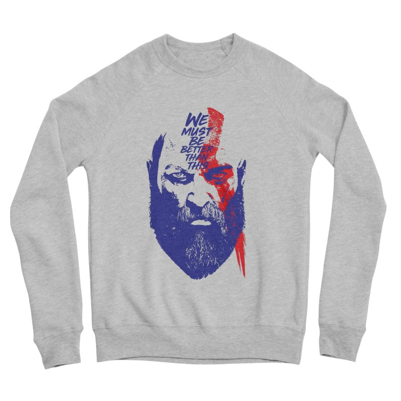 God Of War Men's Sponge Fleece Sweatshirt by tulleceria