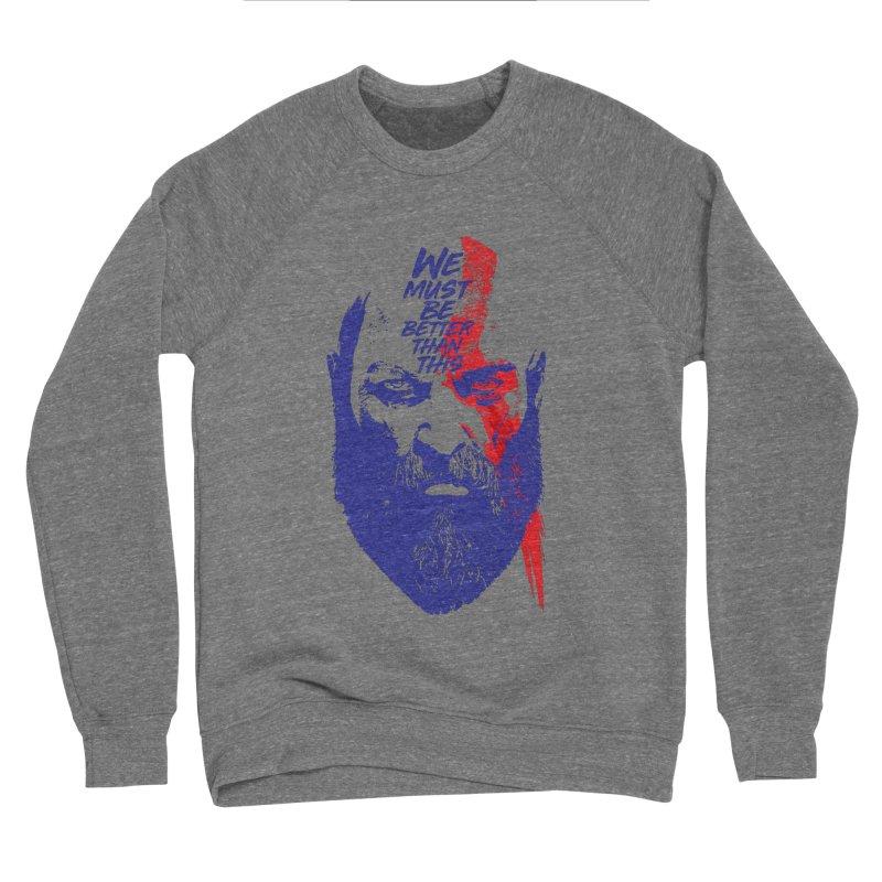 God Of War Men's Sponge Fleece Sweatshirt by tulleceria