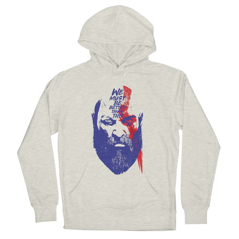 God Of War Men's French Terry Pullover Hoody by tulleceria