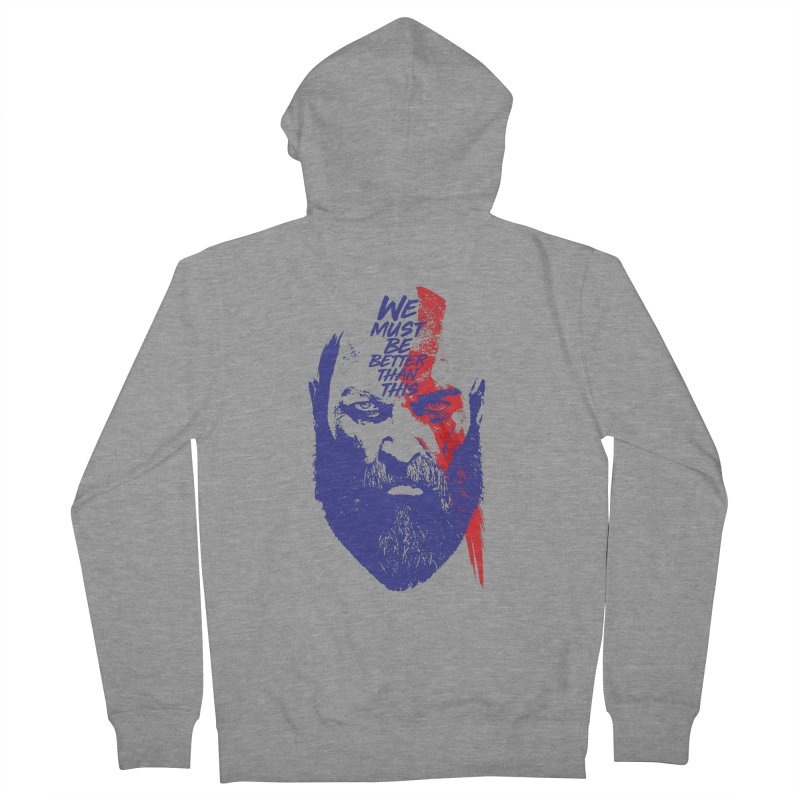 God Of War Men's French Terry Zip-Up Hoody by tulleceria