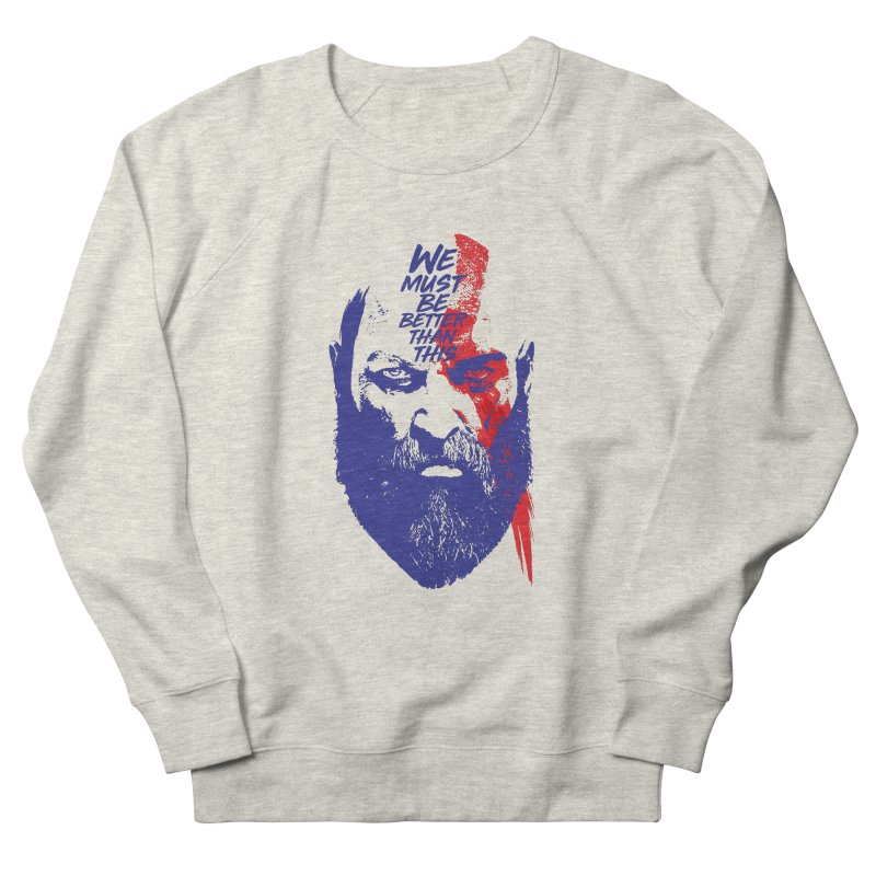 God Of War Men's French Terry Sweatshirt by tulleceria