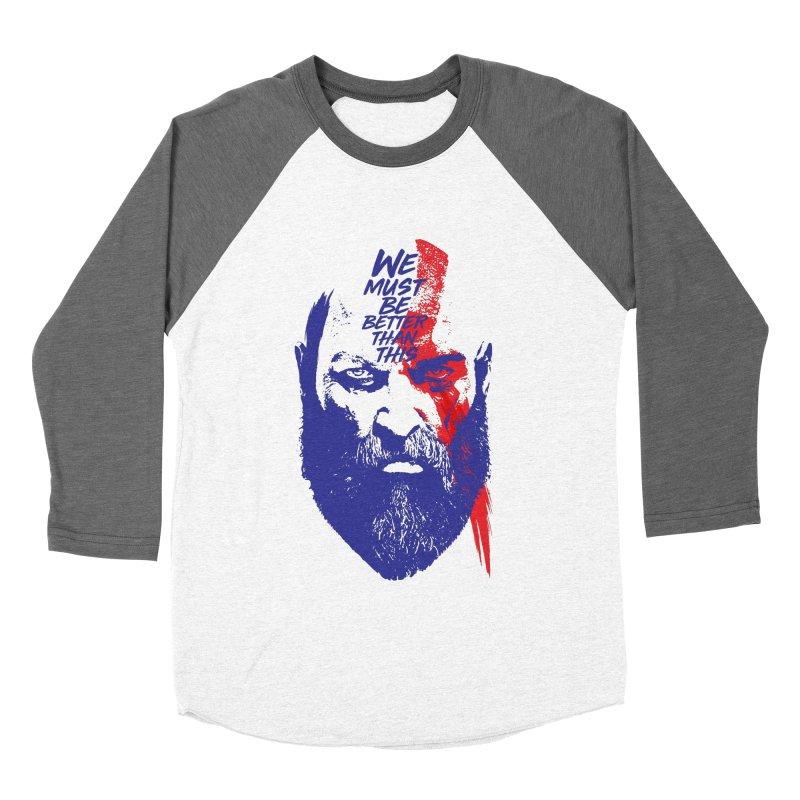 God Of War Women's Baseball Triblend Longsleeve T-Shirt by tulleceria