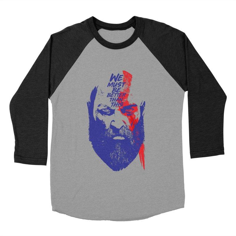 God Of War Men's Baseball Triblend Longsleeve T-Shirt by tulleceria