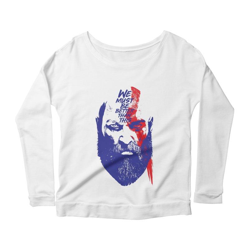 God Of War Women's Scoop Neck Longsleeve T-Shirt by tulleceria