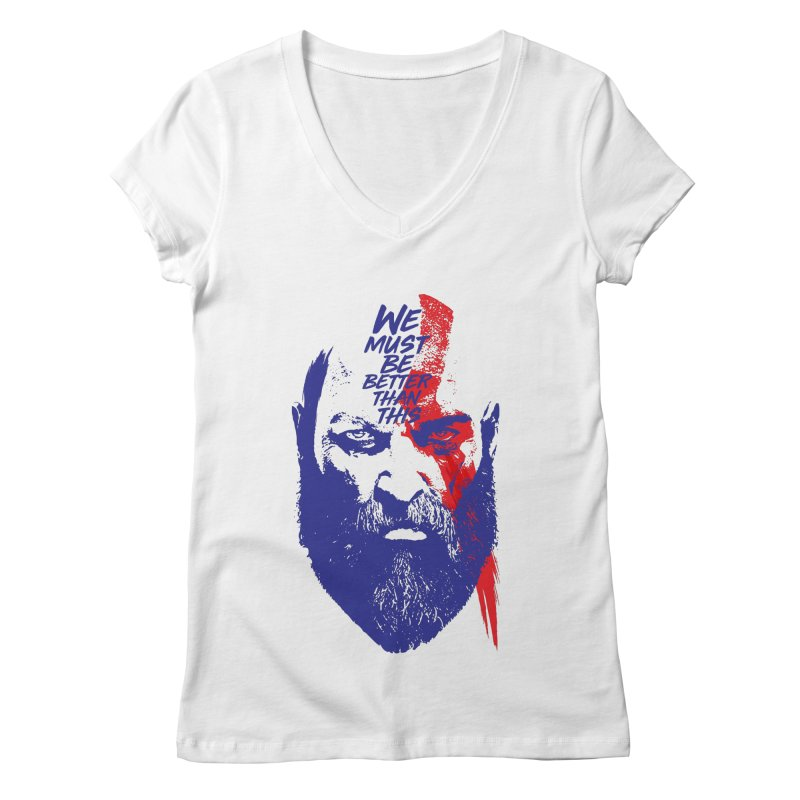 God Of War Women's Regular V-Neck by tulleceria