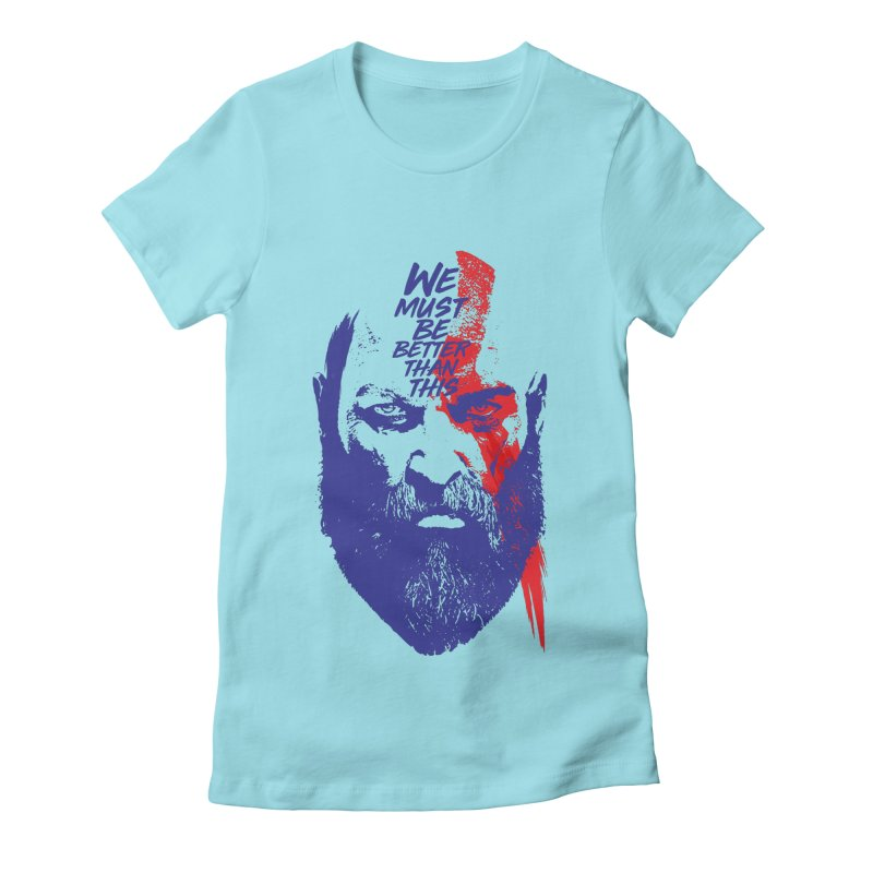 God Of War Women's Fitted T-Shirt by tulleceria