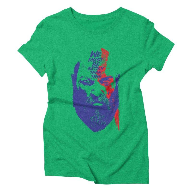 God Of War Women's Triblend T-Shirt by tulleceria