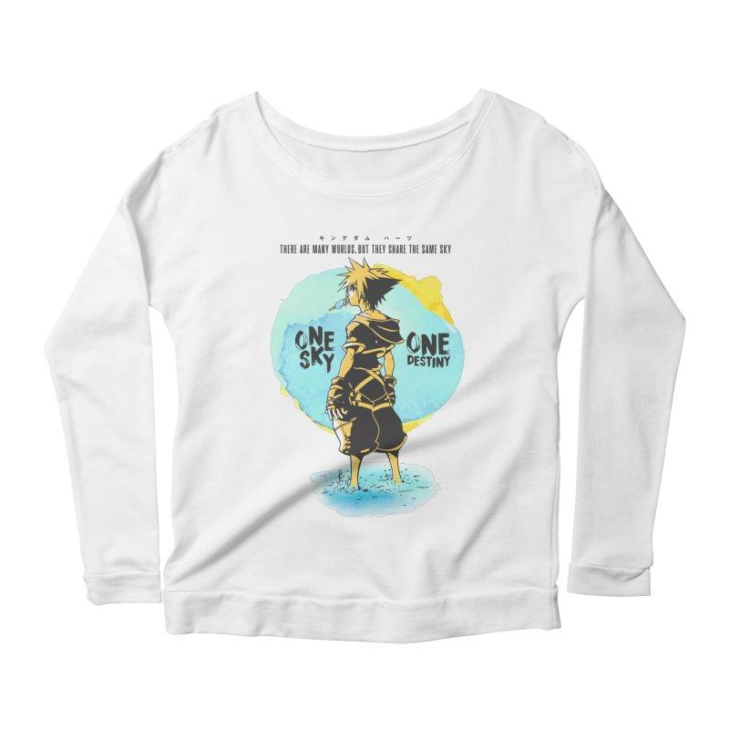 Kingdom Hearts Women's Scoop Neck Longsleeve T-Shirt by tulleceria
