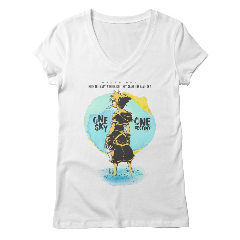 Kingdom Hearts Women's Regular V-Neck by tulleceria