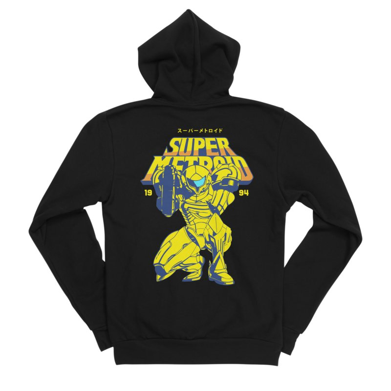 Super Metroid Men's Sponge Fleece Zip-Up Hoody by tulleceria