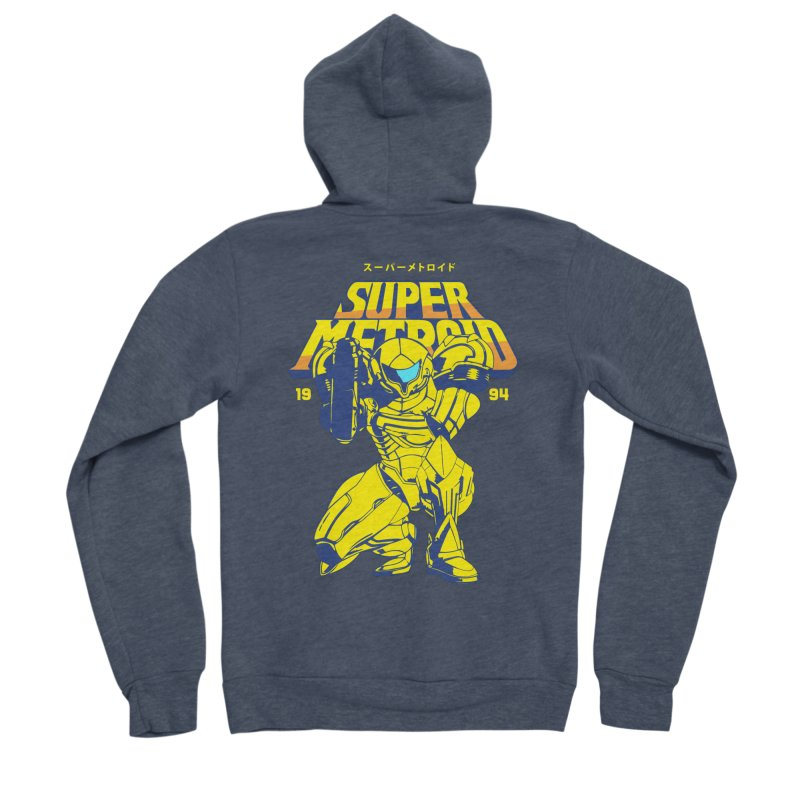 Super Metroid Women's Sponge Fleece Zip-Up Hoody by tulleceria