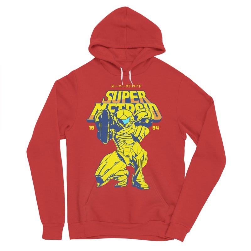 Super Metroid Men's Sponge Fleece Pullover Hoody by tulleceria