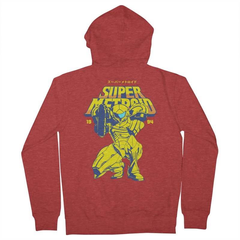 Super Metroid Women's French Terry Zip-Up Hoody by tulleceria