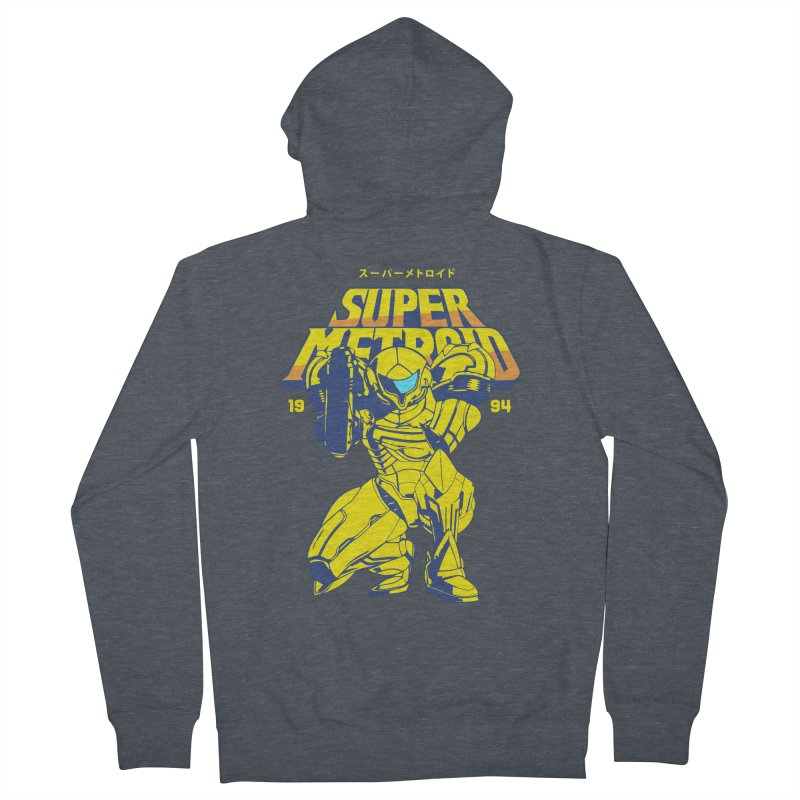 Super Metroid Men's French Terry Zip-Up Hoody by tulleceria