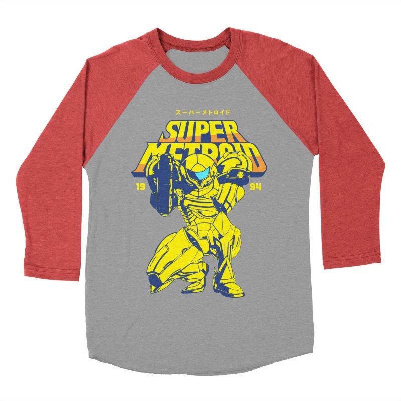 Super Metroid Women's Baseball Triblend Longsleeve T-Shirt by tulleceria