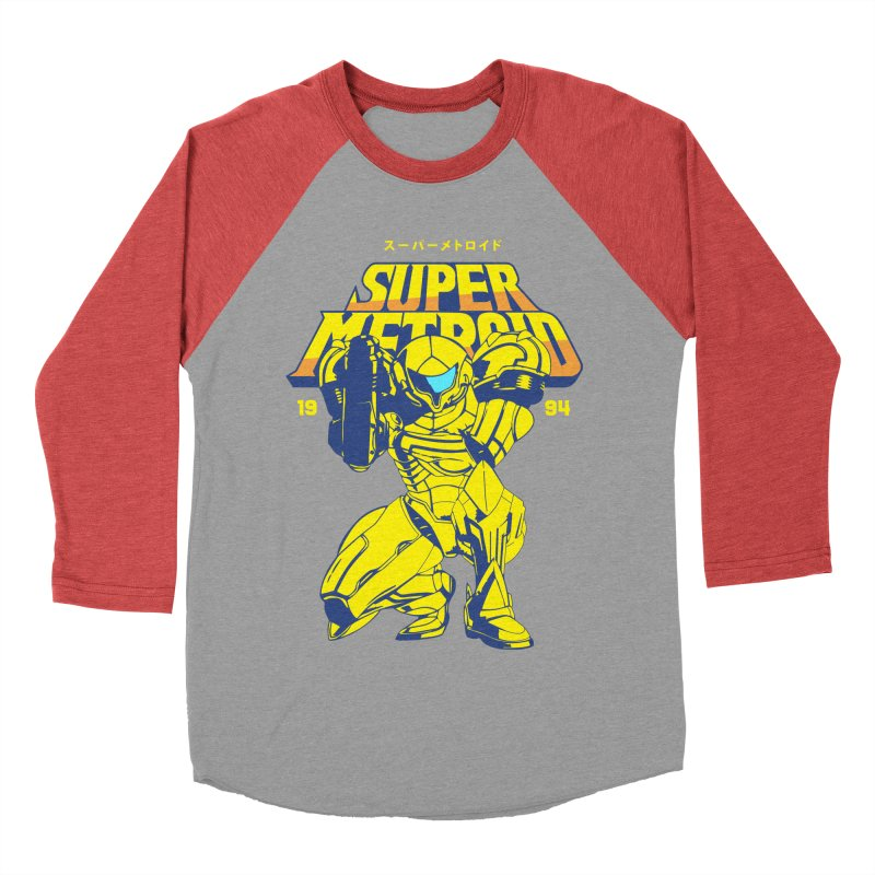 Super Metroid Men's Baseball Triblend Longsleeve T-Shirt by tulleceria
