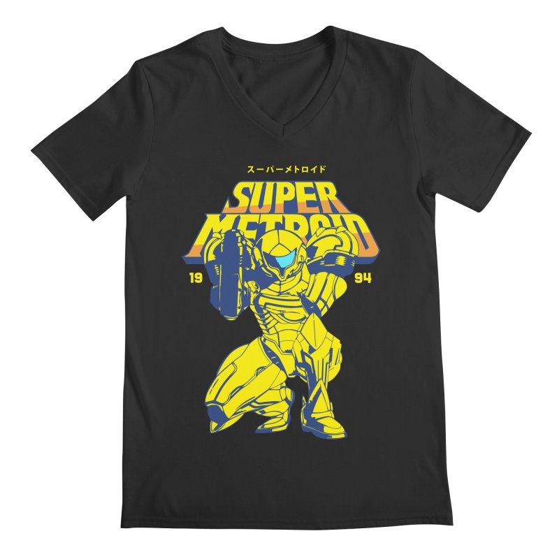 Super Metroid Men's Regular V-Neck by tulleceria