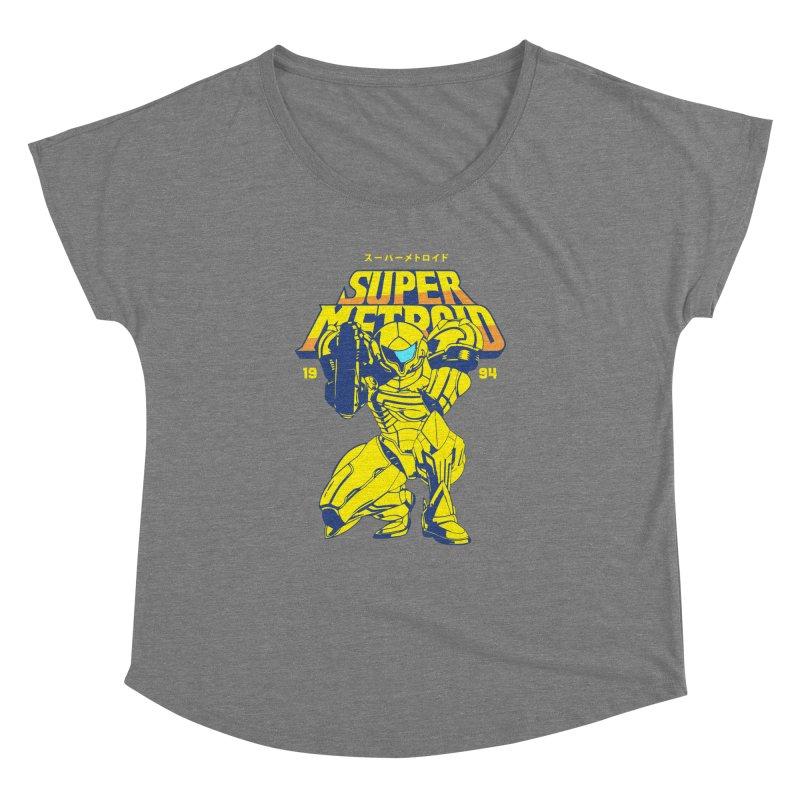 Super Metroid Women's Dolman Scoop Neck by tulleceria