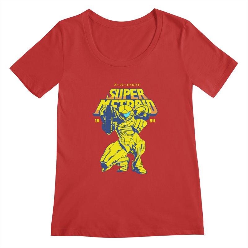 Super Metroid Women's Regular Scoop Neck by tulleceria