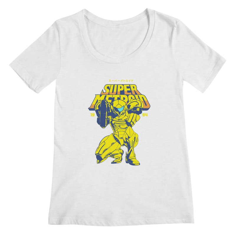 Super Metroid Women's Regular Scoop Neck by tulleceria