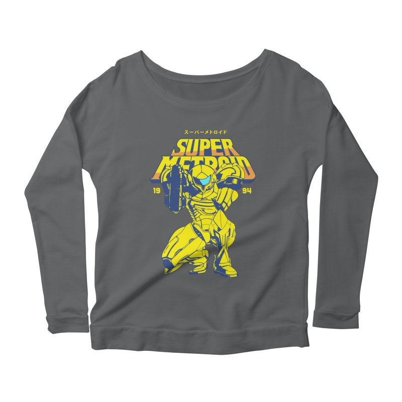 Super Metroid Women's Scoop Neck Longsleeve T-Shirt by tulleceria