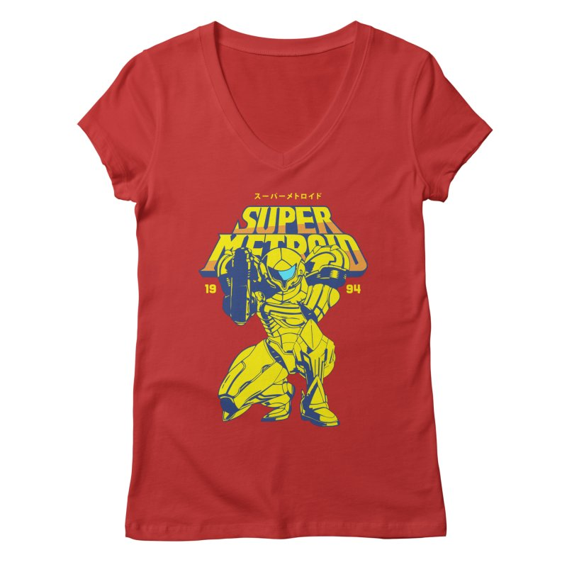 Super Metroid Women's Regular V-Neck by tulleceria