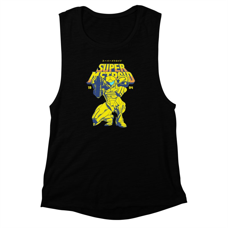 Super Metroid Women's Muscle Tank by tulleceria