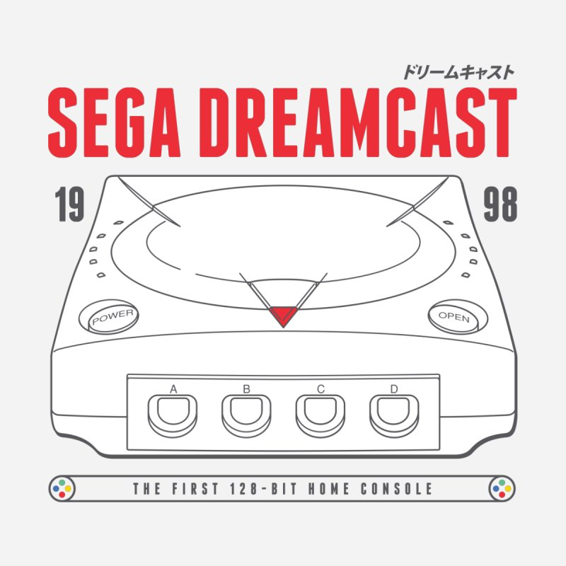 Sega Dreamcast Men's T-Shirt by tulleceria